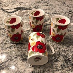 New $30 x 4 MONET rare Fine Bone China mug set 💋